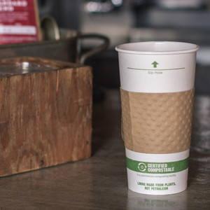 16 oz Double Wall Compostable Insulated Coffee Cup