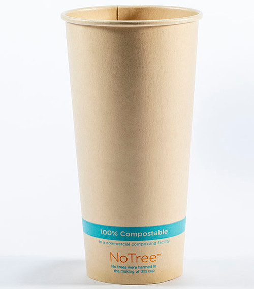 22 oz Compostable Cold Cup NoTree Bamboo Paper CU-SU-22C
