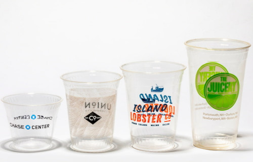 Custom compostable clear cold cups