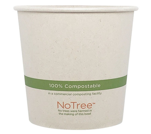 24 oz Compostable Bowl | 100% Sugarcane | Sample