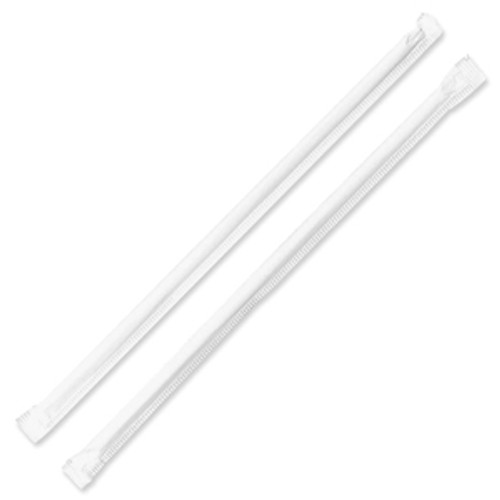 "PLA Straws Individually Wrapped 7.9"" ST-CS-8WP"