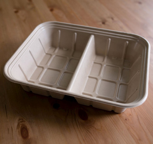 2-Compartment Fiber Catering Tray CA-SC-112DL-LF