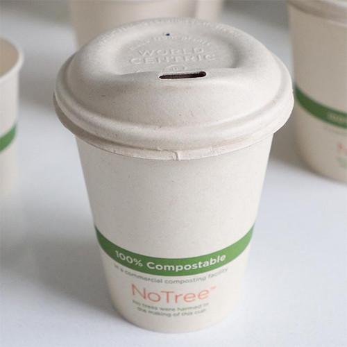 Fiber sip lids for 8 oz coffee cups CUL-FB-8-LF