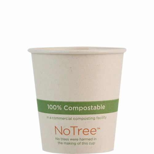 4 oz Custom Compostable Hot Cup Sugarcane
