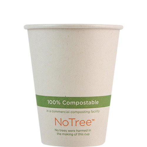 8 oz Custom Compostable Sugarcane Hot Cup