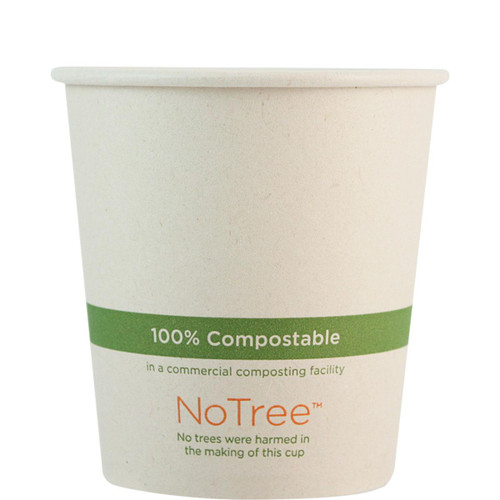 10 oz Custom Compostable Sugarcane Hot Cup