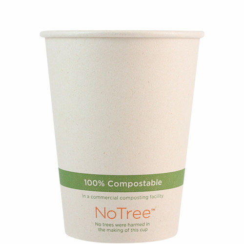 12 oz Custom Compostable Sugarcane Hot Cup