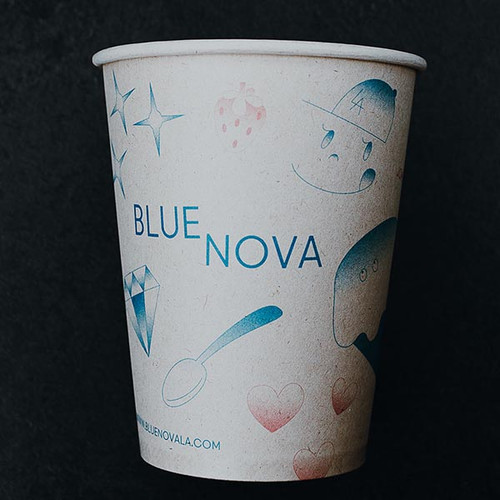 12 oz Custom Compostable Sugarcane coffee cups