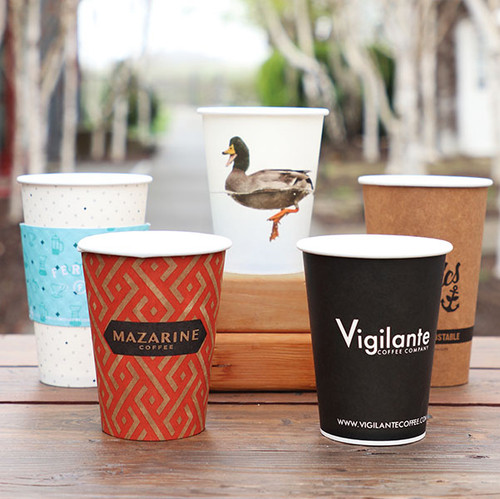Custom Compostable Sugarcane Hot Cups
