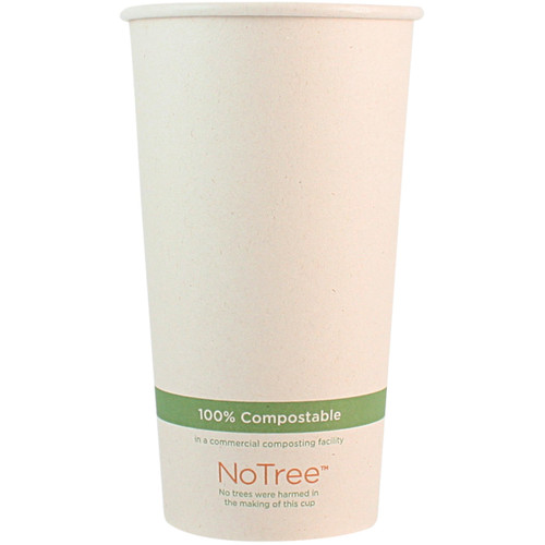20 oz Custom Compostable Sugarcane Hot Cup