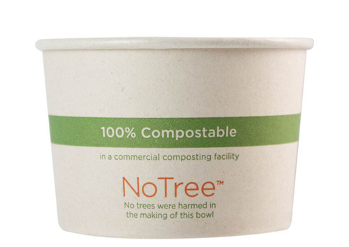 8 oz Custom Compostable Sugarcane Paper Bowls