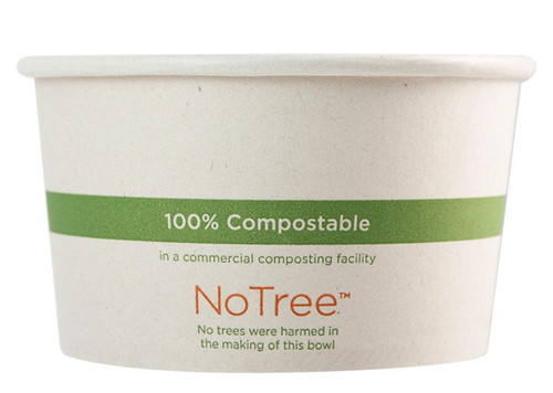 12 oz Custom Compostable Sugarcane Paper Bowls
