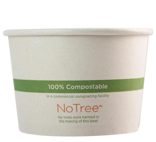 16 oz Custom Compostable Sugarcane Paper Bowls