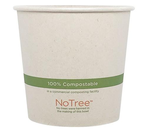 24 oz Custom Compostable Sugarcane Paper Bowls