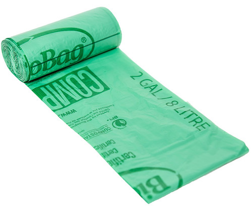 BioBag 2 Gallon Compost Bin Liner Bags 02G1517
