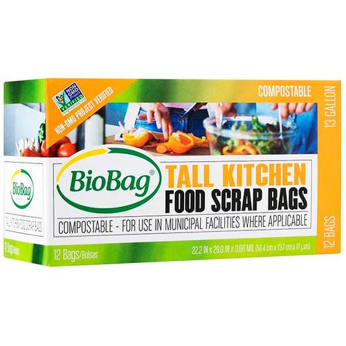 BioBag Tall Kitchen 13 Gallon Food Scrap Bags 187684
