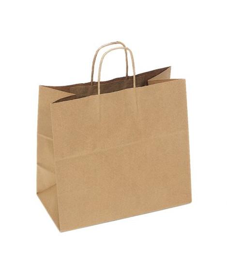 Kraft Recycled Shopping Bag   13 x 7 x 13   Sample