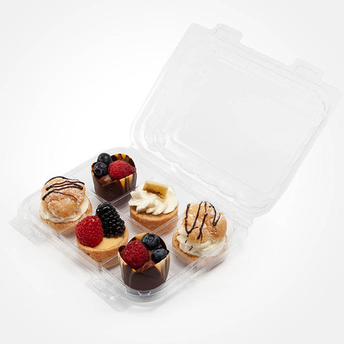 Small pastry Containers 6 Section BXX00097