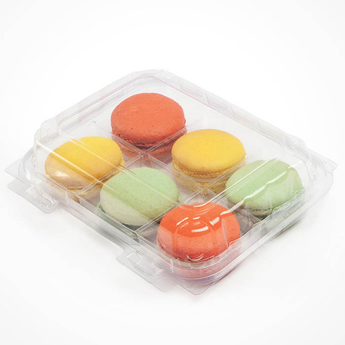 Macaron Containers 6 Section Sample