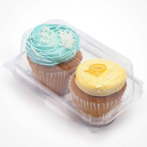 """3"""" Cupcake & Muffin Containers 2 Section Sample"""