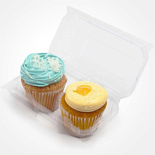 "3"" Cupcake & Muffin Containers 2 Section Sample"
