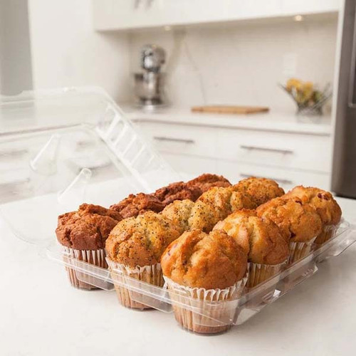 "12-pack 3.25"" Cupcake & Muffin Containers Sample"