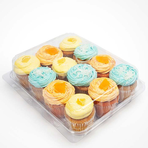"""12-pack 3.25"""" Cupcake & Muffin Containers Sample"""