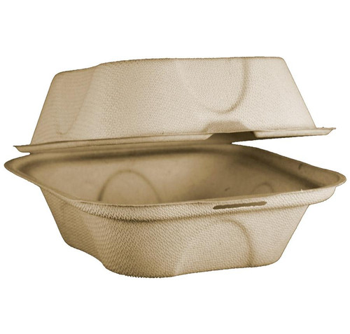 Compostable Fiber Clamshell Container TO-SC-U15B-LF