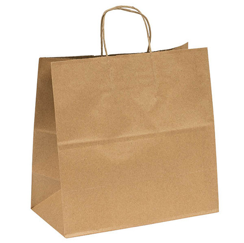 Wholesale Kraft recycled paper shopping bags - 13 x 7 x 13