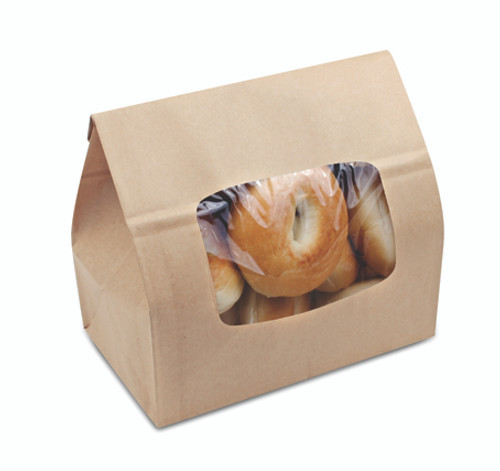 EcoCraft Bakery Bag with Window/Tac Closure 300789