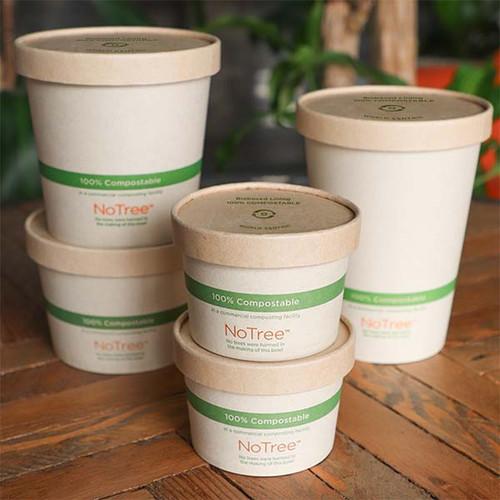 Kraft Paper Lids for 12 - 32 oz Bowls - BOL-PA-12-K
