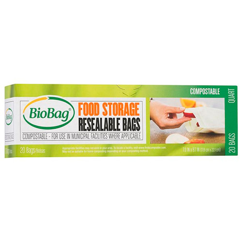 BioBag Resealable Food Storage Bags 20 count box 190421