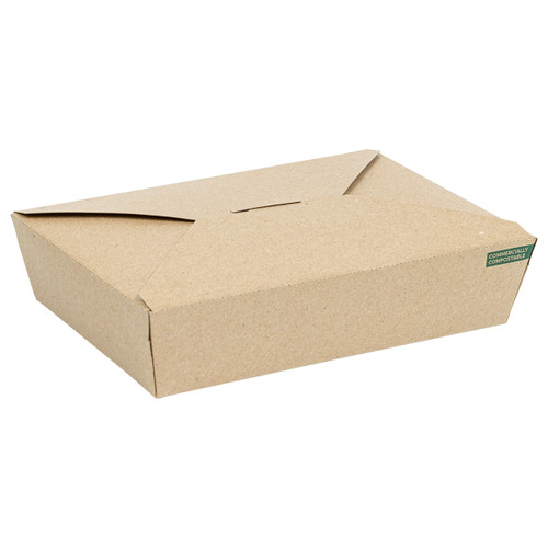Innobox Edge Compostable Kraft #2 To Go Boxes 36 oz | 191619813
