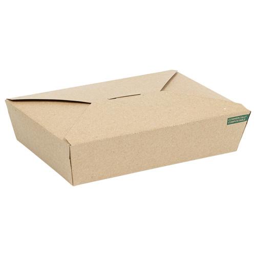 Innobox Edge Compostable Kraft #2 To Go Boxes 36 oz | 191619813