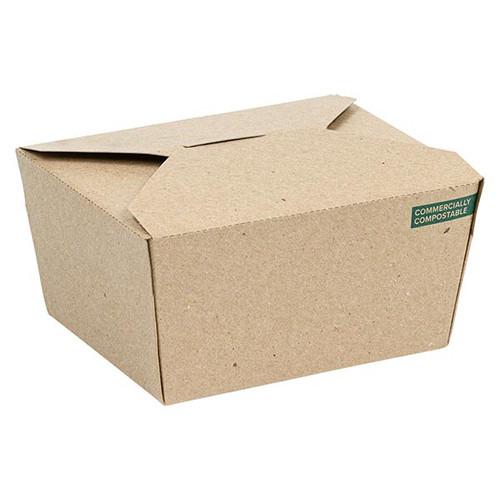 Innobox Edge Compostable Kraft #1 To Go Boxes 22 oz