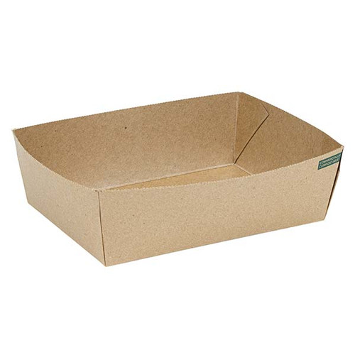Innobox Edge Compostable Kraft #3 To Go Boxes 56 oz