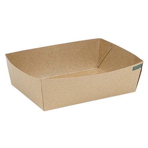 Innobox Edge Compostable Kraft #3 To Go Boxes 56 oz
