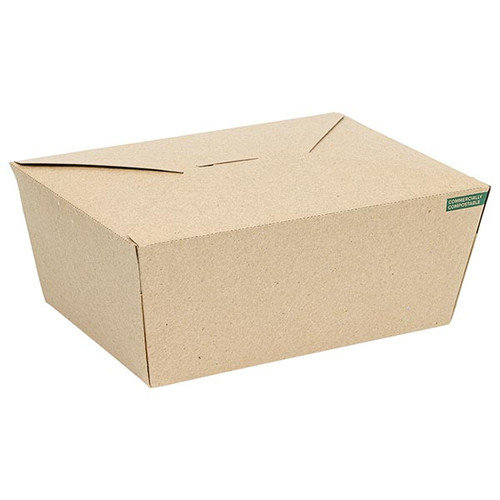 Innobox Edge Compostable Kraft #4 To Go Boxes 75 oz