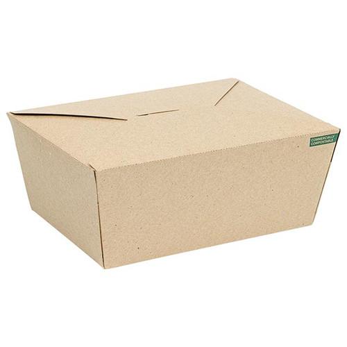 Innobox Edge Compostable Kraft #4 To Go Boxes 75 oz