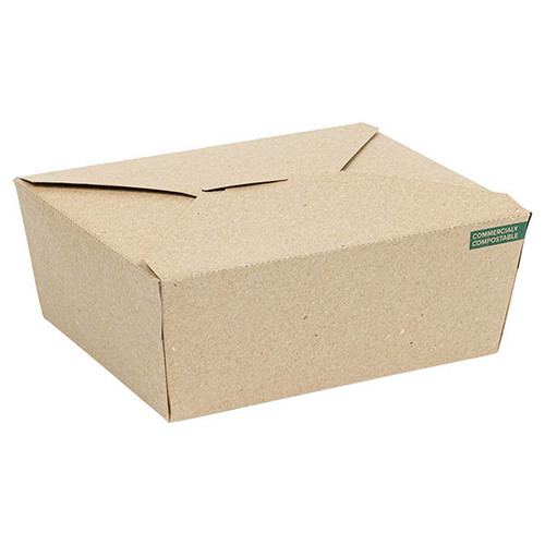 Innobox Edge Compostable Kraft #8 To Go Boxes 29 oz