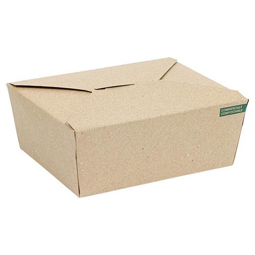 Innobox Edge Compostable Kraft #8 To Go Boxes 29 oz