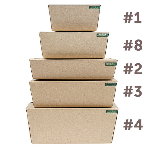 Innobox Edge Compostable Kraft To Go Boxes