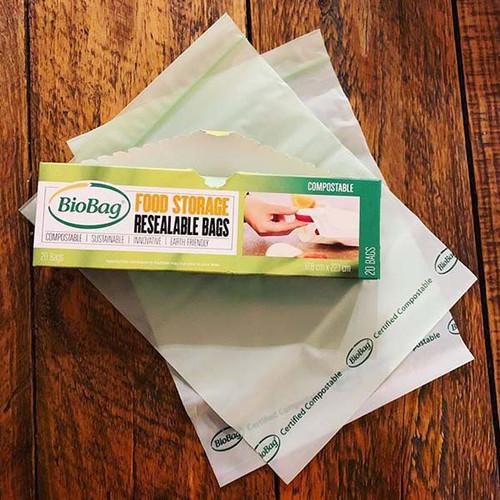 BioBag Resealable Food Storage Bags samples
