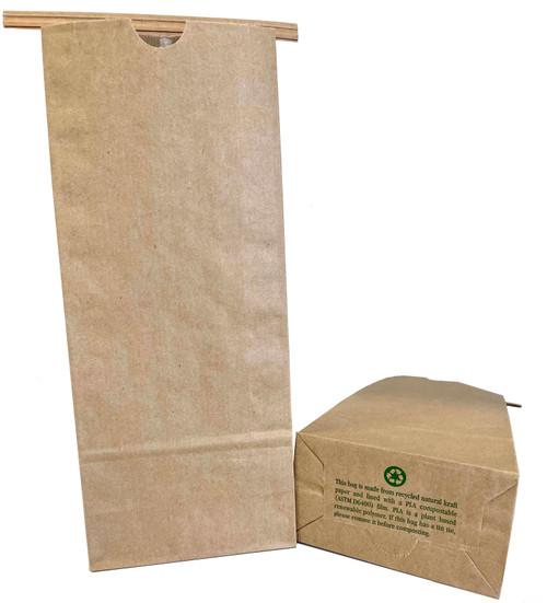 2 lb Kraft Coffee Bags PLA Lined CN-2PLA