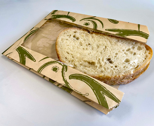 Natural Kraft Food Bags w/PLA window