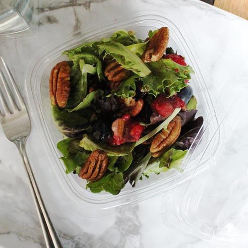 16 oz Square PLA Salad Deli Containers Sample