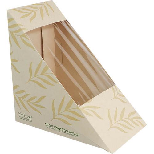 NoTree Medium Sandwich Wedge Box w/ PLA Window SW-NT-M
