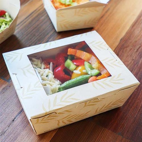NoTree Paper #1 To Go Boxes 26 oz w/ PLA Window TO-NT-1W