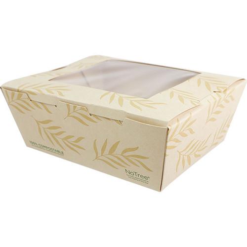 NoTree Paper #8 To Go Boxes 46 oz w/ PLA Window TO-NT-8W