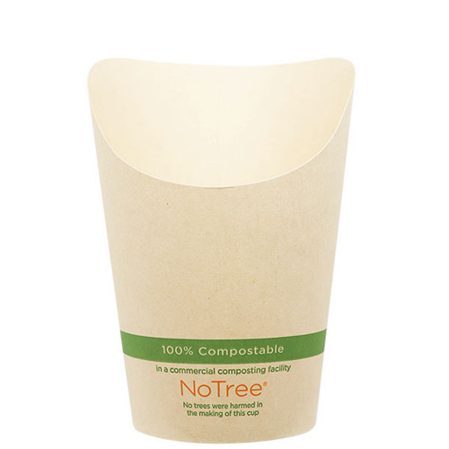 French Fry Cups 5.5 oz NoTree Paper Scoops FC-NT-55
